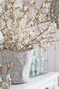Selyemvirág, tavasz, asztaldísz