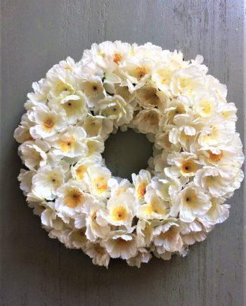 Selyemvirág, kopogtató, dekoráció, ajtódísz