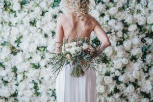 Virágfal esküvőre, esküvői virág